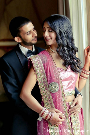Indian reception bride groom fashion in Santa Monica, California Indian Wedding by Harvard Photography