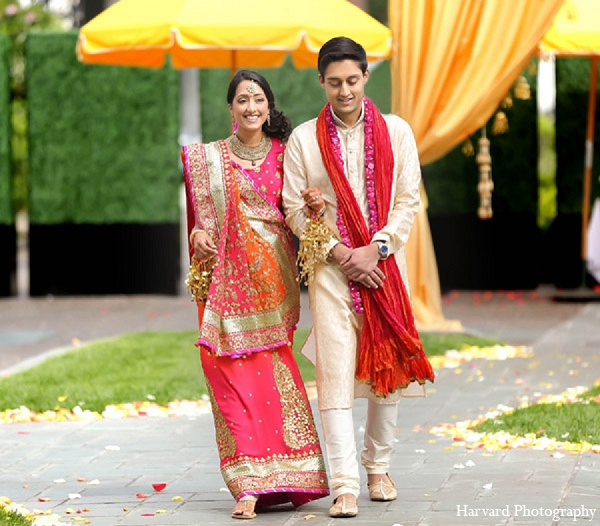 Indian wedding bride ceremony lengha in Santa Monica, California Indian Wedding by Harvard Photography