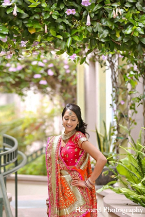 Indian wedding bride fashion portrait in Santa Monica, California Indian Wedding by Harvard Photography