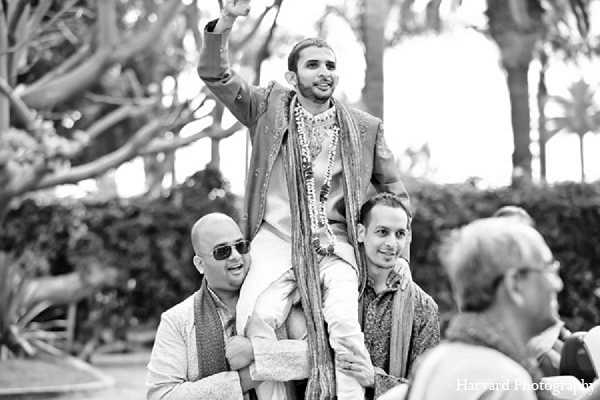 Indian wedding groom baraat photography in Santa Monica, California Indian Wedding by Harvard Photography