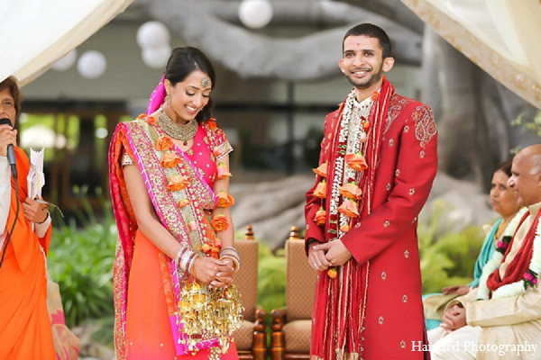 Indian wedding groom bride ceremony in Santa Monica, California Indian Wedding by Harvard Photography