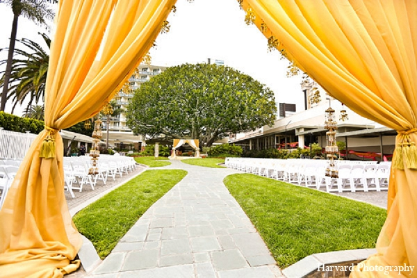 Indian wedding mandap venue photography in Santa Monica, California Indian Wedding by Harvard Photography
