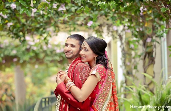 Indian wedding portraits bride groom in Santa Monica, California Indian Wedding by Harvard Photography