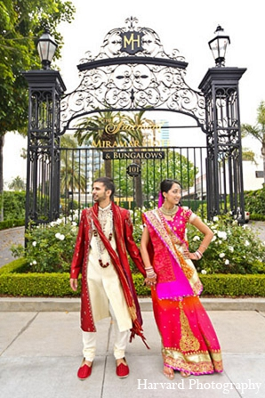 Indian wedding venue photography groom bride in Santa Monica, California Indian Wedding by Harvard Photography