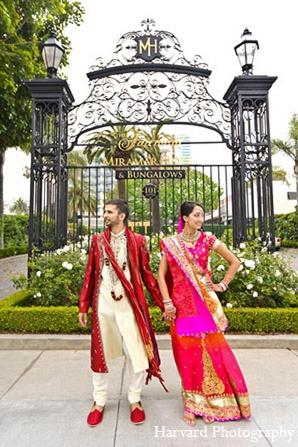Indian wedding venue photography groom bride in Santa Monica, California Indian Wedding by Harvard Photography