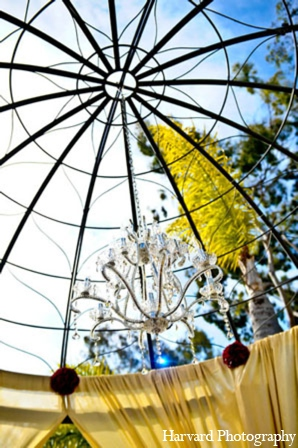 Indian wedding traditional mandap in Newport Beach, Cailfornia Indian Wedding by Harvard Photography