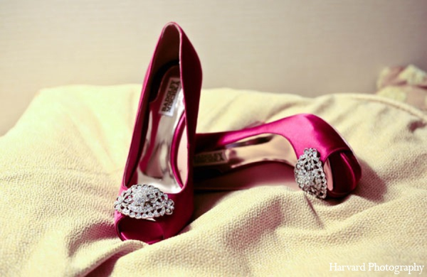 Indian bridal shoes in Newport Beach, Cailfornia Indian Wedding by Harvard Photography