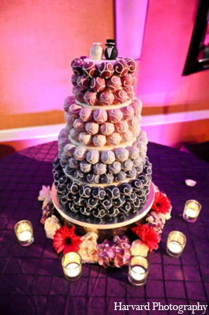 Indian wedding cake in Newport Beach, Cailfornia Indian Wedding by Harvard Photography