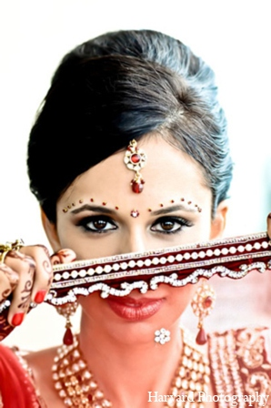 Indian wedding bridal hair makeup in Newport Beach, Cailfornia Indian Wedding by Harvard Photography