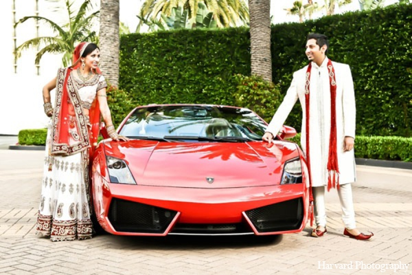Indian wedding car in Newport Beach, Cailfornia Indian Wedding by Harvard Photography