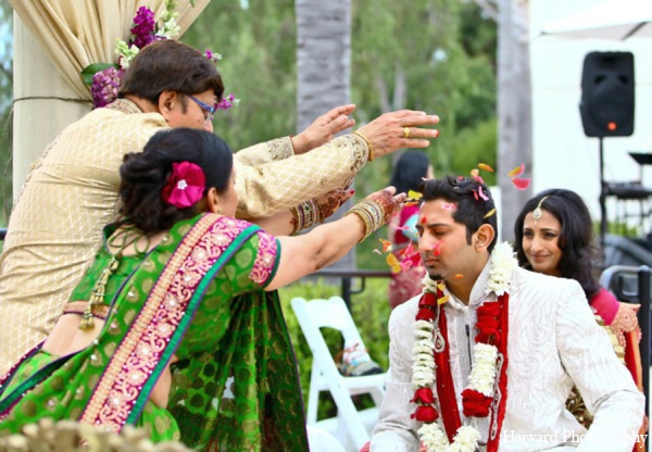 red,gold,white,ceremony,traditional indian wedding,indian wedding traditions,Harvard Photography