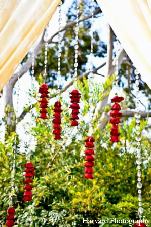 Indian wedding floral decor in Newport Beach, Cailfornia Indian Wedding by Harvard Photography