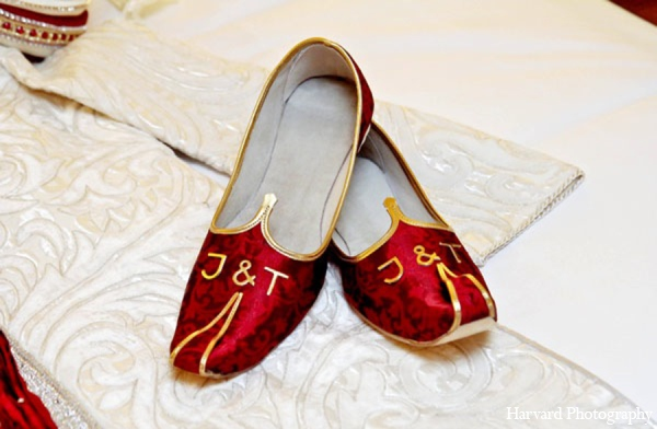 Indian wedding groom shoes in Newport Beach, Cailfornia Indian Wedding by Harvard Photography