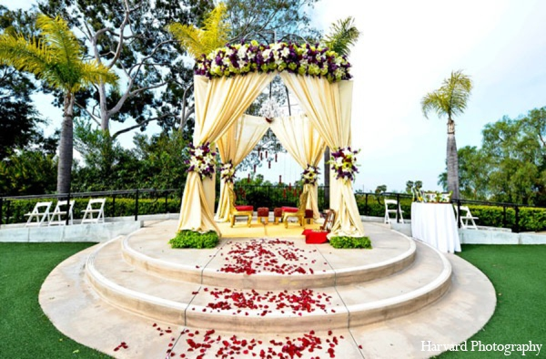 Indian wedding outdoor ceremony in Newport Beach, Cailfornia Indian Wedding by Harvard Photography