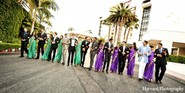 Indian wedding party in Newport Beach, Cailfornia Indian Wedding by Harvard Photography