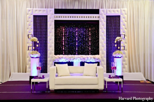 Indian wedding reception decor in Newport Beach, Cailfornia Indian Wedding by Harvard Photography