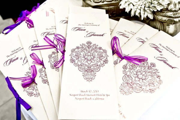 Indian wedding stationary in Newport Beach, Cailfornia Indian Wedding by Harvard Photography