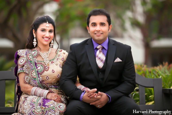 Indian wedding bride groom in Huntington Beach, CA Indian Wedding by Harvard Photography