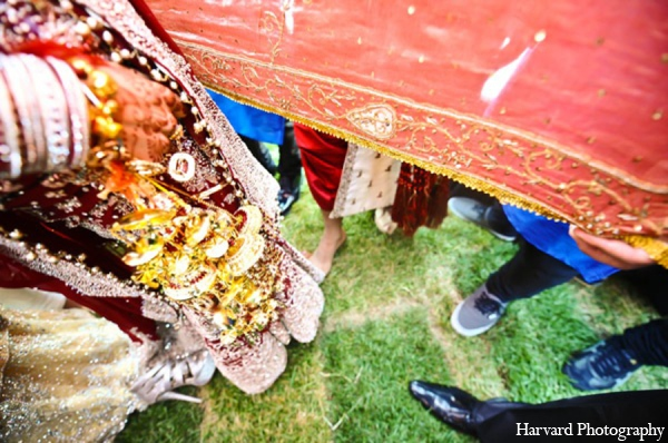 Indian wedding bride lehenga in Huntington Beach, CA Indian Wedding by Harvard Photography