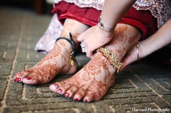 Indian wedding bride mehndi in Huntington Beach, CA Indian Wedding by Harvard Photography