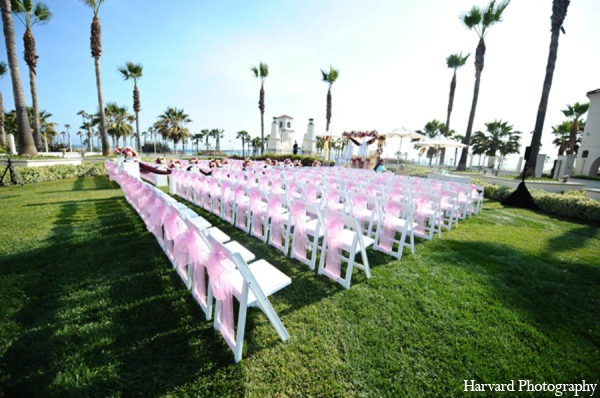Indian wedding ceremony design in Huntington Beach, CA Indian Wedding by Harvard Photography