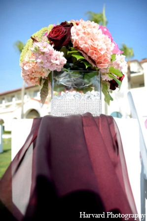 Indian wedding ceremony floral in Huntington Beach, CA Indian Wedding by Harvard Photography