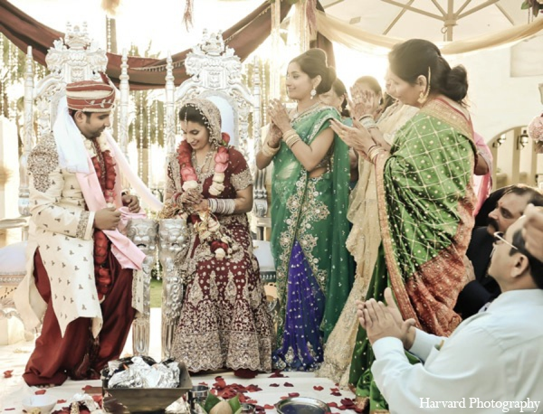 Indian wedding ceremony photos in Huntington Beach, CA Indian Wedding by Harvard Photography