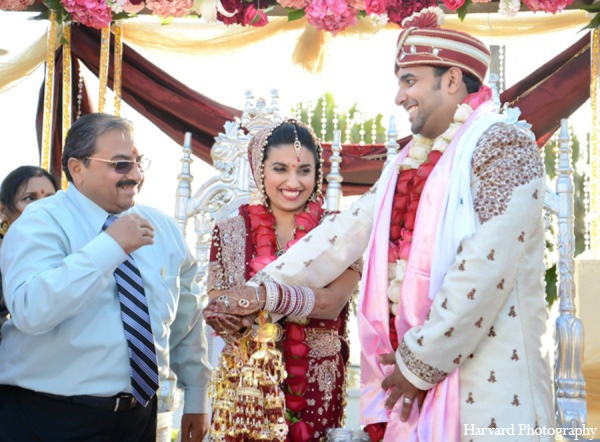 Indian wedding ceremony in Huntington Beach, CA Indian Wedding by Harvard Photography