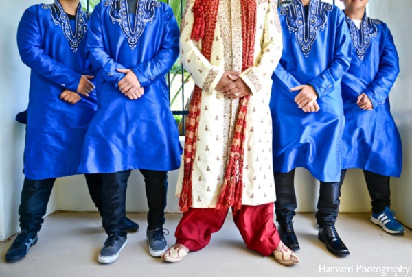 Indian wedding groomsmen outfits in Huntington Beach, CA Indian Wedding by Harvard Photography
