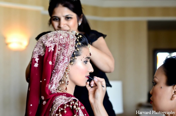 Indian wedding makeup in Huntington Beach, CA Indian Wedding by Harvard Photography