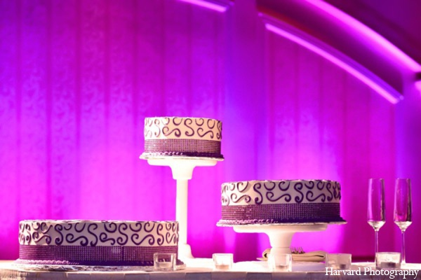 Indian wedding reception cake in Huntington Beach, CA Indian Wedding by Harvard Photography