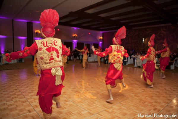 Indian wedding reception dancers in Huntington Beach, CA Indian Wedding by Harvard Photography