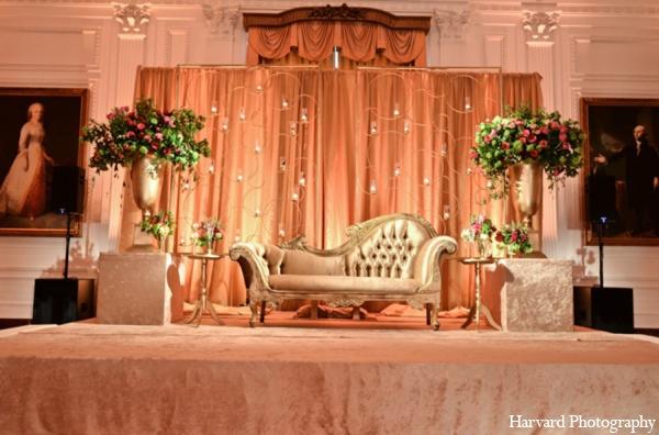Indian wedding reception decor in Yorba Linda, CA Indian Fusion Wedding by Harvard Photography