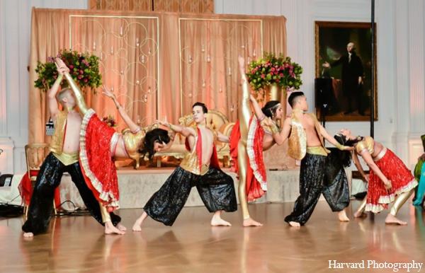 Indian wedding dancers in Yorba Linda, CA Indian Fusion Wedding by Harvard Photography