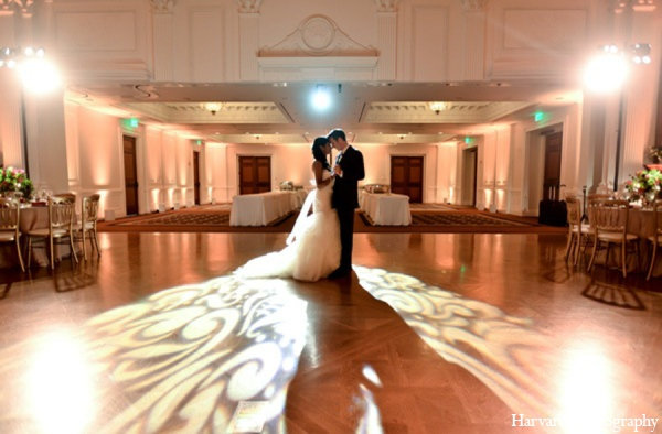 Indian wedding reception lighting in Yorba Linda, CA Indian Fusion Wedding by Harvard Photography