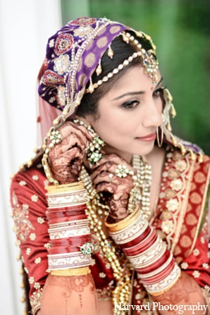 Indian wedding traditional jewelry in Yorba Linda, CA Indian Fusion Wedding by Harvard Photography