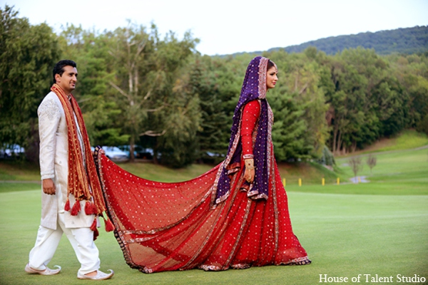 Indian wedding bridal fashion in Central Valley, New York Pakistani Wedding by House of Talent Studio