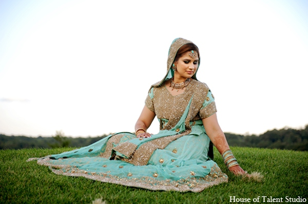 Indian wedding bridal lengha in Central Valley, New York Pakistani Wedding by House of Talent Studio