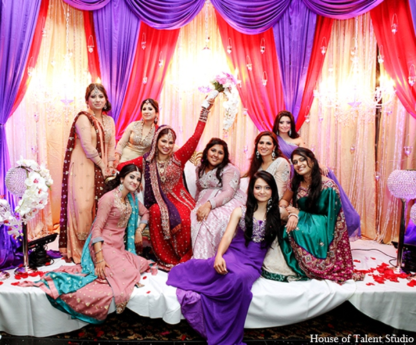 Indian wedding bridal party in Central Valley, New York Pakistani Wedding by House of Talent Studio