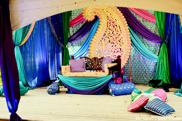 Indian wedding decor in Central Valley, New York Pakistani Wedding by House of Talent Studio