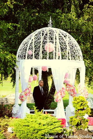 Indian wedding gazebo in Central Valley, New York Pakistani Wedding by House of Talent Studio