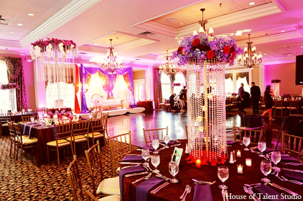 Indian wedding reception flora in Central Valley, New York Pakistani Wedding by House of Talent Studio