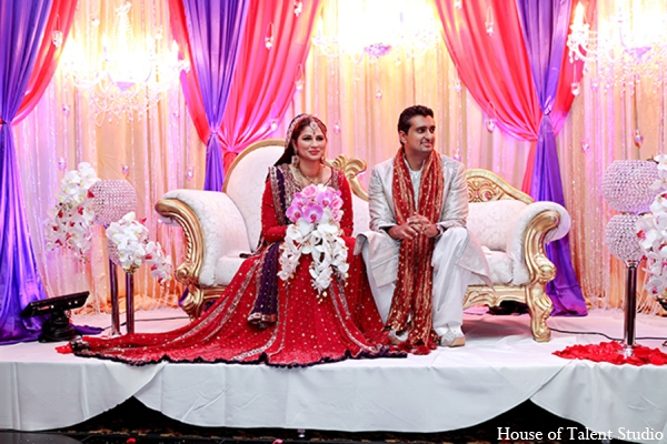 Indian wedding reception lighting in Central Valley, New York Pakistani Wedding by House of Talent Studio