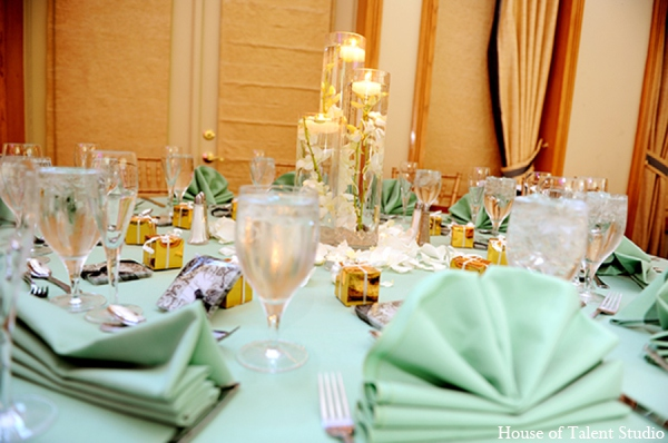Indian wedding tablesetting in Central Valley, New York Pakistani Wedding by House of Talent Studio