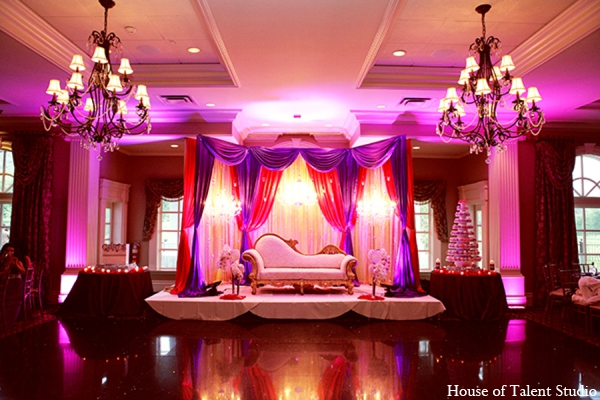 Indian wedding reception design in Central Valley, New York Pakistani Wedding by House of Talent Studio