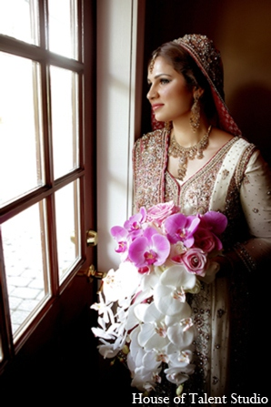 bridal fashions,portraits,House of Talent Studio,bridal bouquet,traditional pakistani wedding,pakistani wedding traditions