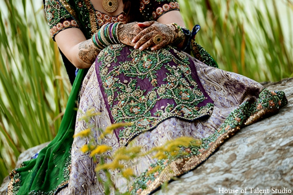 Pakistani bridal look in Central Valley, New York Pakistani Wedding by House of Talent Studio