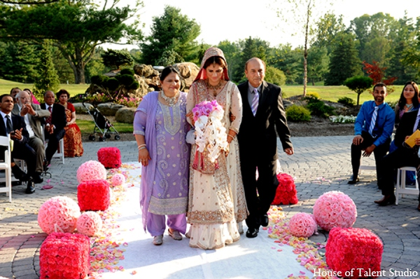 Pakistani traditional bride in Central Valley, New York Pakistani Wedding by House of Talent Studio