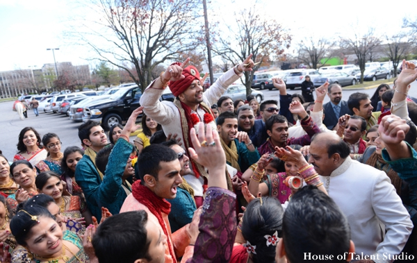 Indian wedding baraat traditional celebration in Huntington, New York Indian Wedding by House of Talent Studio