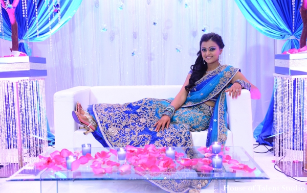 Indian wedding bridal lengha maharani in Huntington, New York Indian Wedding by House of Talent Studio